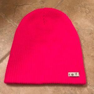 Hot pink Neff ladies beanie